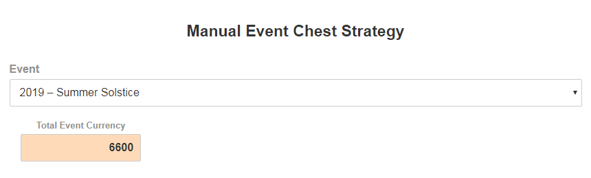 Manual Event Chest Strategy - Event Definition